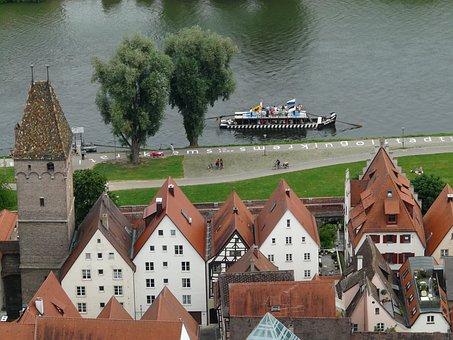 Ulm, Danube, Ulmer Schachtel, Boot, Ship, Tourism