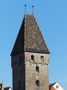 Metzgerturm, Ulm, Tower, Roof, Spire, Building, Masonry