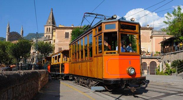 Tram Of Soller, Soller, Mallorca