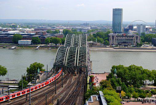 View From Dom, Cologne, Rheinbrücke, Triangle Tower