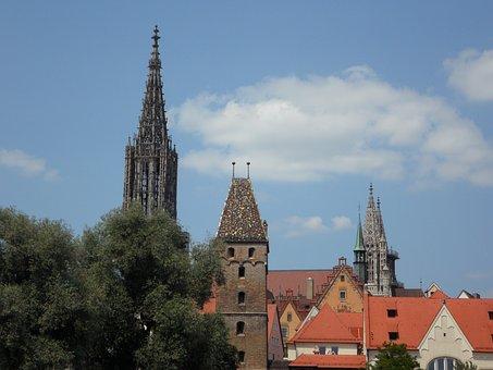 Ulm, Metzgerturm, Münster, Ulm Cathedral, Bowever