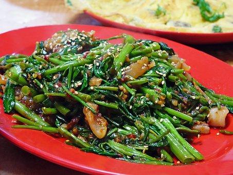 Water Spinach, Kangkong, Sambal Chilli, Vegetable