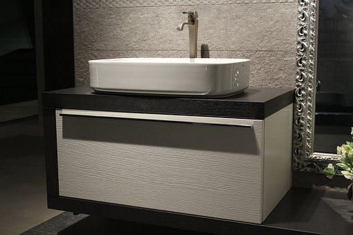 Bathroom Cabinet, Sink, Washbasin, Faucet, Bathroom