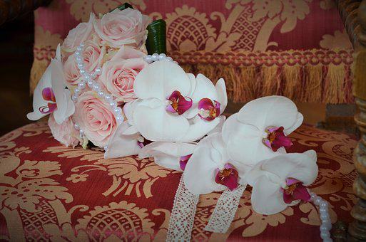 Wedding, Bouquet, Romanticism, Flowers, White, Purity