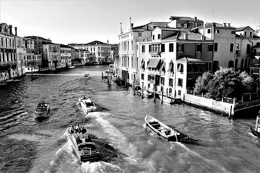 Venice, Italy, Channel, Architecture, Buildings, Palace