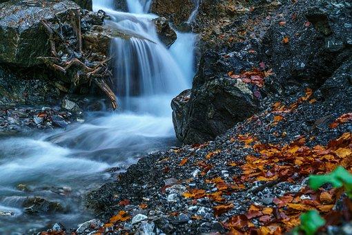 Kleinwalsertal, Waterfall, Water, Bach, River, Hike