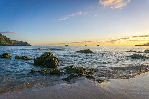 Mallorca, Beach, Water, Sky, Sea, Bay, Vacations