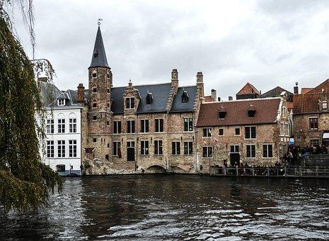 Brugge, Bruges, House, Belgium, The Medieval City