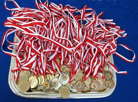 Medals, Decorations, Awards, Sport, Decoration, Gold
