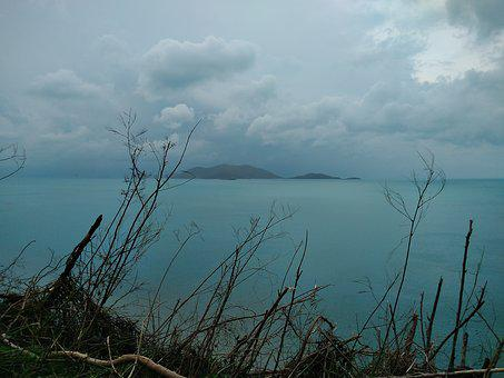 Storm, Clouds, Disaster, Hurricane, Sea, Ocean, Blue