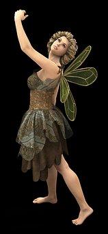 Fee, Elf, Fairy, Wing, Fae, Woman, Beauty, Fantasy