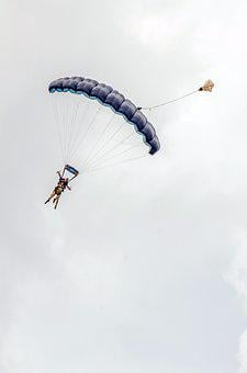 Parachute, Fly, Sky, Sport, Extreme, Flight, Air