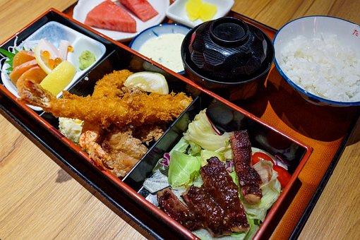 Japanese Cuisine, Sashimi, Meat, Asian, Food, Rice