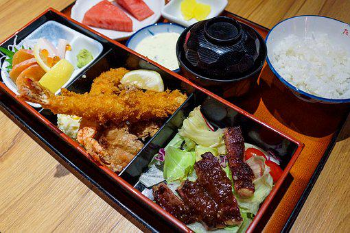 Japanese Cuisine, Sashimi, Meat, Asian, Food, Rice