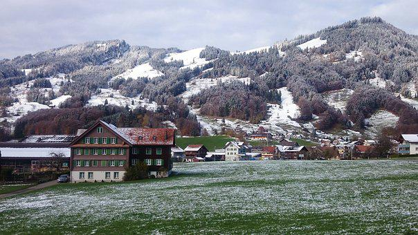 Freezing, Snow-capped Mountains, Frost, The Alps