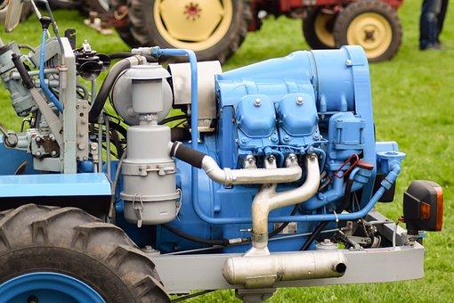 Motor, Tug, Four-cylinder, Commercial Vehicle, Eigenbau