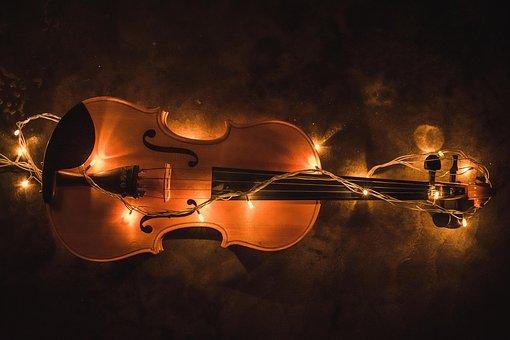 Violin, Lighting, Creative, Music, Musical, Instrument