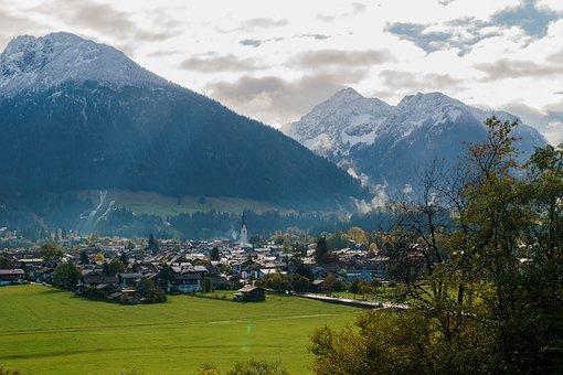 Oberstdorf, Clouds, Mountains, Panorama, Landscape