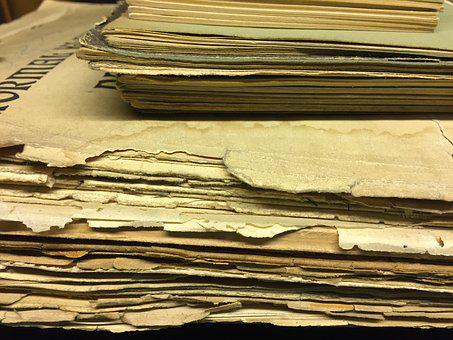 Old, Paper, Sheet Music, Brown, Vintage, Out Of Date