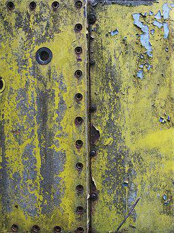 Panel, Riveted, Excavators, Background, Rusty, Metal