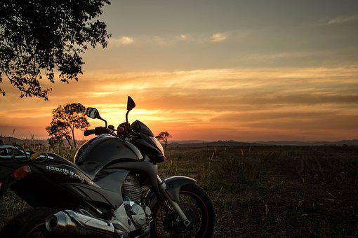 Sky, Bike, Landscape, Sol, Horizon, Sunset, Motorcicle