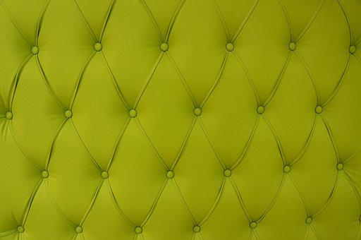 Chartreuse, Sofa, Pattern, Button Sofa, Background