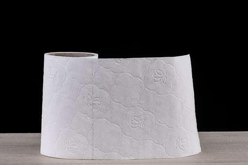 Toilet Paper, White, Soft, Cleaning, Background, Macro
