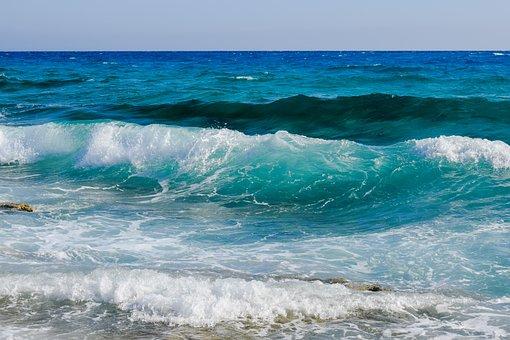 Wave, Foam, Spray, Water, Sea, Blue, Nature, Splash