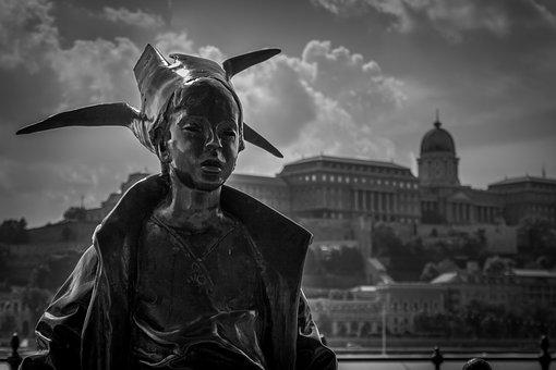 Statue In Budapest, Budapest, Hungary, Statue