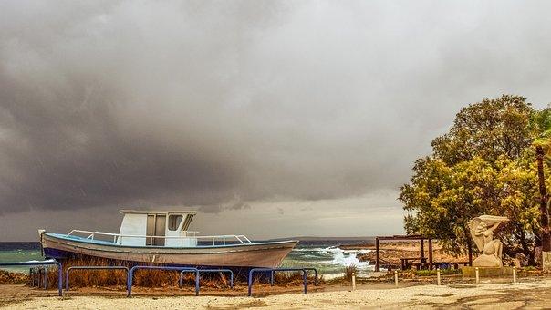 Cyprus, Ayia Napa, Ammos Tou Kampouri, Beach, Storm