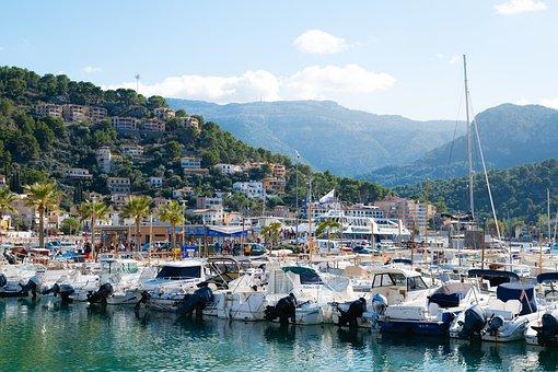 Majorca, Port De Sóller, Spain, Travel, Water, Port