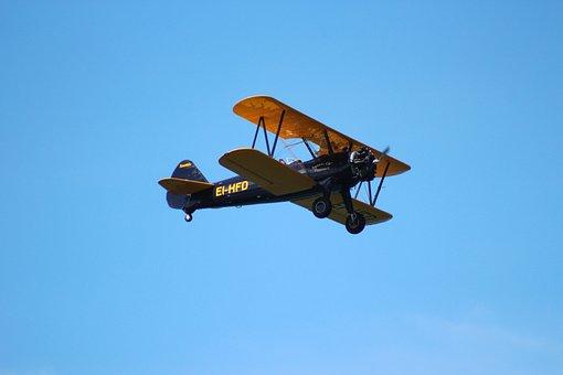 Biplane Aircraft, Airshow, Display, Aircraft, Airplane