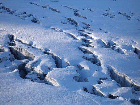 Glacier, Split, Crevasses, Snow, Ice, Alpine, Mountains