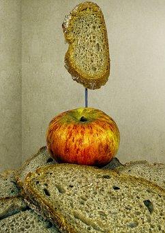 Bread, Bread Slices, Apple, Breakfast, Baked Goods