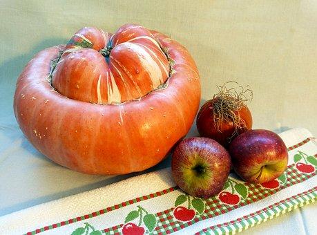 Pumpkin, Apple, Orchard, Fruit, Nature, Healthy, Food