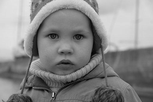Baby, Black And White, View, Person, Kids, Portrait
