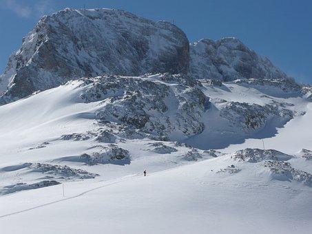 Dachstein, Backcountry Skiiing, Snow, Glacier