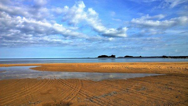 Lake, Beach, Water, Himmel, Nature, Summer, Sea