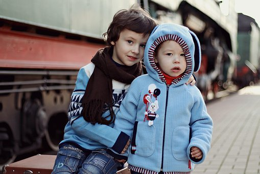 Boys, Book, Train, Sweater, Kid, Kids, Child, Childhood
