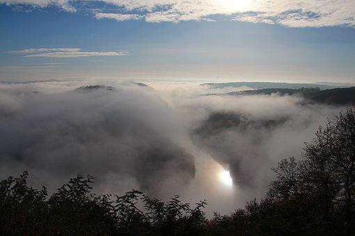Herbstnebel, River Valley, Viewpoint, Cloef, Foresight