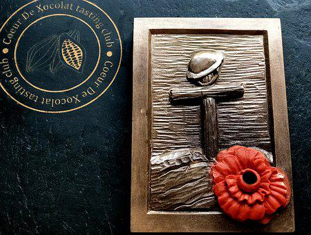 Remembrance, Poppy, Chocolates, Cocoa, Brown, Food