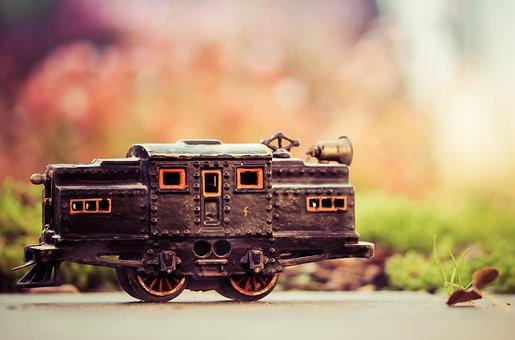 Toys, Train, Children, Vintage, Old, Colorful, Colors