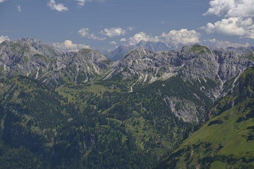 Alpine, Foghorn, Mountains, Allgäu, Valley, Landscape