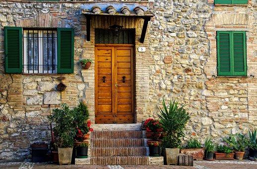 Casa Antica, Middle Ages, San Gemini, Umbria, Italy