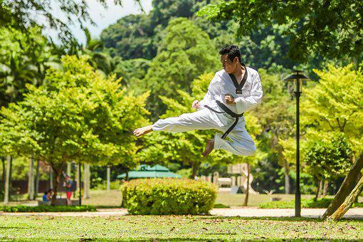 Martial Arts, Kung Fu, Kick, Asia, Flying, Jump