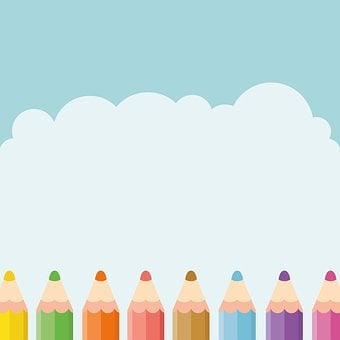 Pencil, Sky, Kids, Cute, Design, Learning