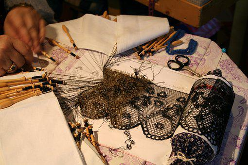 Lace-making, Craft, Middle Ages, Old, Historically