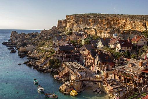 Popeye, Village, Malta, Tourism, Travel, Island, Bay