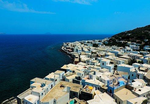 Greece, Kos, Nisyro, Nisyros, Houses, White Houses