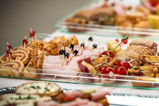 Finger Food, Party Spiess, Eat, Snack, Party, Buffet